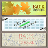 Back to school vectorial banner Stock Images