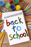 Back to school, vertical, art and craft class Stock Photo