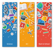 Back To School Vertical BannersSet With Flat Stock Images