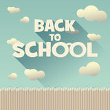 Back to school vintage background with long shadow Royalty Free Stock Photography