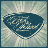 Back to school vintage image vector Royalty Free Stock Photo