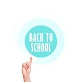 Back To School Vitual Screen Button Stock Photo