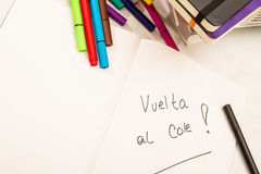 Back to school (Vuelta al Cole) Royalty Free Stock Photos