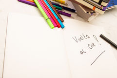 Back to school (Vuelta al Cole) Stock Images