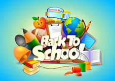 Back to School wallpaper background Royalty Free Stock Photo