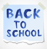 Back to school. Watercolor inscription Stock Photos