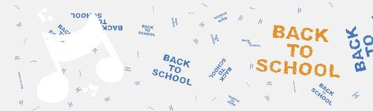 Back to school. Web banner on the topic of education with patterns in the background. Flat  illustration EPS 10 Royalty Free Stock Image