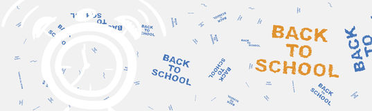 Back to school. Web banner on the topic of education with patterns in the background. Flat  illustration EPS 10 Stock Photography