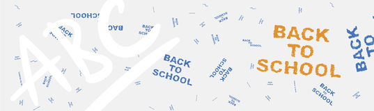 Back to school. Web banner on the topic of education with patterns in the background. Flat illustration EPS 10.  stock illustration