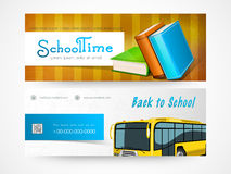 Back to school web header or banner set. Royalty Free Stock Photography