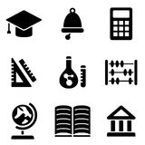 Back to school web and mobile logo icons collection Stock Photo