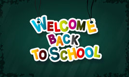 Back to school. Welcome back to school colorful vector text illustration Stock Image