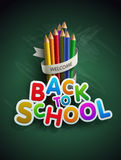 Back to school. Welcome back to school. Vector illustration.  Elements are layered separately in vector file. Easy editable Royalty Free Stock Photo