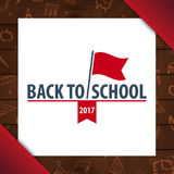 Back to School wooden background. Education banner. Vector illustration. Stock Photography