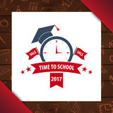 Back to School wooden background. Education banner. Vector illustration. Royalty Free Stock Images