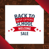 Back to School wooden background. Education banner. Vector illustration. Royalty Free Stock Photos