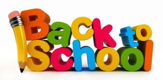 Back to School Word Stock Image