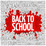 Back to School word cloud Royalty Free Stock Photos