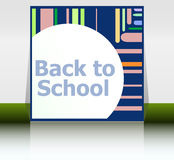 Back to school word, education concept Royalty Free Stock Photo