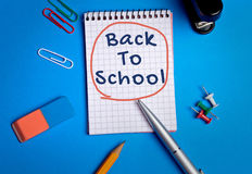 Back to school word Royalty Free Stock Photo