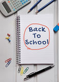 Back to school word on notebook Stock Photo