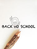 Back to school wording concept Royalty Free Stock Image