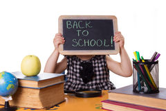 Back to school words on board Stock Photo
