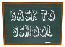 Back to School - Words on Chalkboard Stock Image