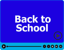 Back to school words on media player  on white, education Royalty Free Stock Photography