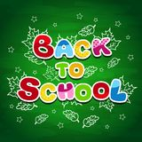 Back to school writing on the blackboard Royalty Free Stock Photos