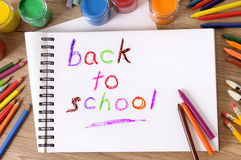 Back to school writing, memo, reminder, concept Stock Photography