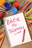 Back to school writing, memo, reminder Stock Photo