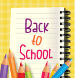 Back to school writing in a notebook Royalty Free Stock Image