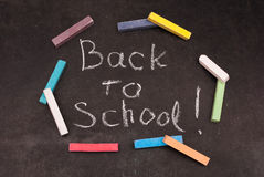 Back to school written stock images