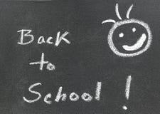 Back to School written in a black board Stock Image