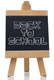 Back to school written in black on chalkboard Stock Photography