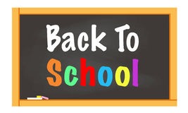 Back to school written on black chalkboard vector Royalty Free Stock Image