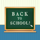Back to school written Royalty Free Stock Photos