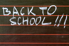 Back to school written on blackboard and abacus Royalty Free Stock Images