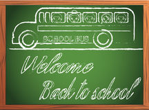 Back to school written on blackboard Royalty Free Stock Image