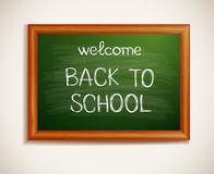 Back to school written on blackboard. Vector-Illustration Royalty Free Stock Photo