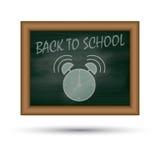 Back to school, written on blackboard Stock Images