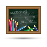 Back to school, written on blackboard Stock Photo