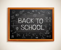 Back to school written on blackboard. Vector-Illustration stock illustration