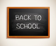 Back to school written on blackboard Stock Image