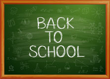 Back to school written on blackboard. Vector-Illustration Stock Photo