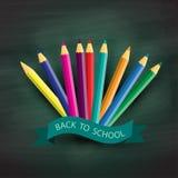 Back to school, written on blackboard Stock Image