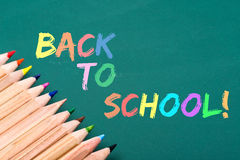 Back to school written on board Royalty Free Stock Photography