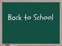 Back to School written on chalk board Royalty Free Stock Images