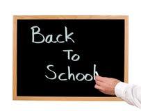 Back To School. Written in chalk on a chalkboard Royalty Free Stock Photos